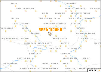 map of Średniówka