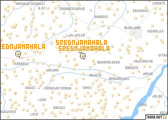 map of Srednja Mahala