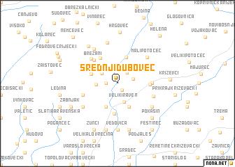 map of Srednji Dubovec