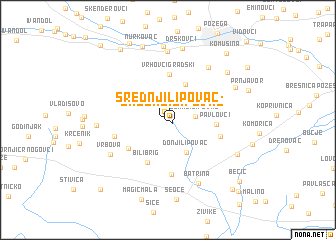 map of Srednji Lipovac
