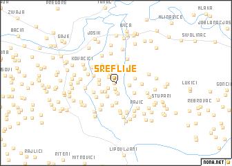 map of Sreflije