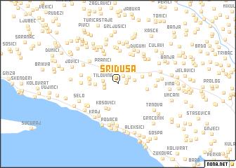 map of Sriduša