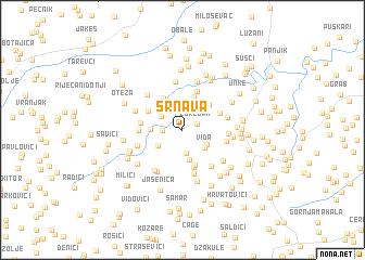 map of Srnava