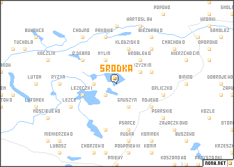 map of Śródka
