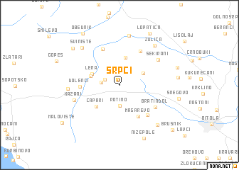 map of Srpci