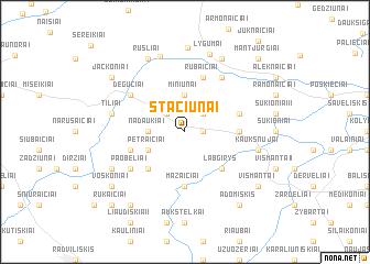 map of Stačiūnai