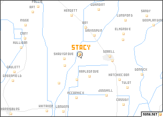 map of Stacy