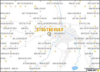 map of Stadtberger