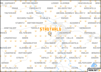 map of Stadtwald