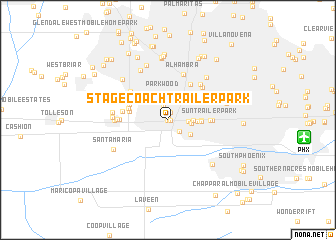 map of Stagecoach Trailer Park