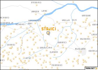 map of Stajići