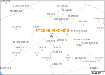 map of Stakhovshchina