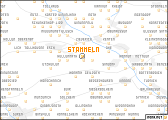 map of Stammeln