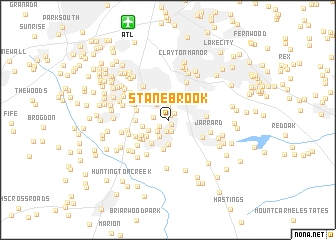 map of Stanebrook