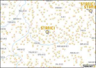 map of Stanići