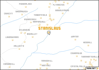 map of Stanislaus