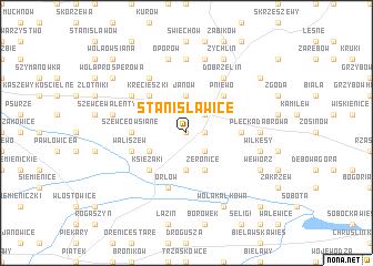 map of Stanisławice