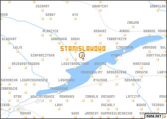 map of Stanisławowo