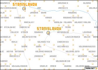 map of Stanisławów