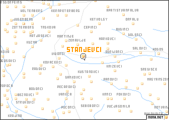 map of Stanjevci