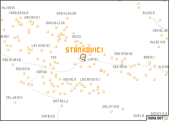 map of Stankovići
