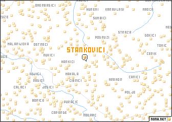 map of Stankovići