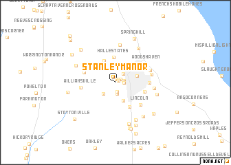 map of Stanley Manor