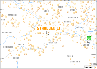 map of Stanojevići