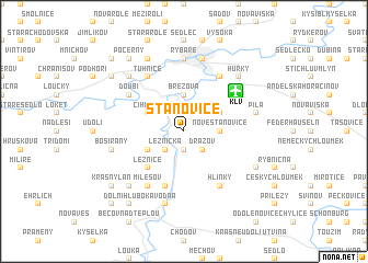 map of Stanovice