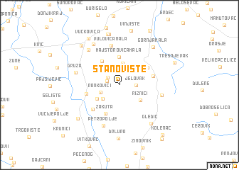 map of Stanovište