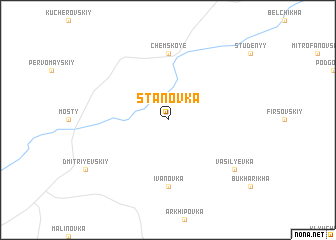 map of Stanovka