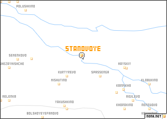 map of Stanovoye