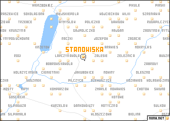 map of Stanowiska