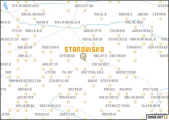 map of Stanowiska