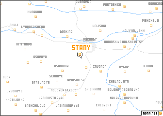 map of Stany