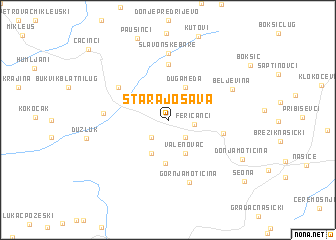 map of Stara Jošava