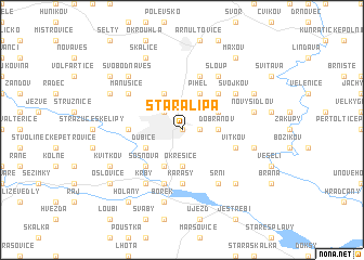 map of Stará Lípa