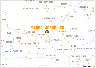 map of Stara Ljeskovica