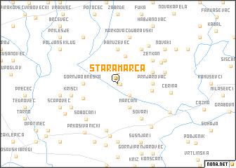 map of Stara Marča