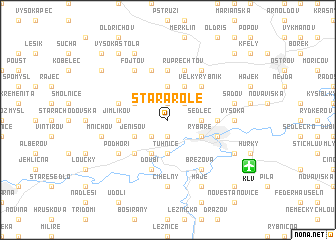 map of Stará Role