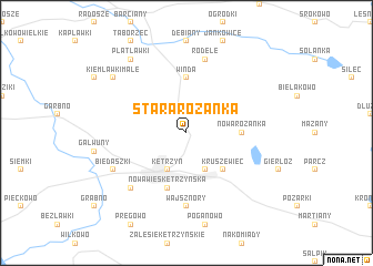 map of Stara Różanka