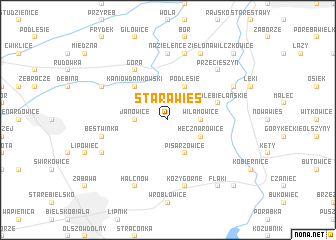 map of Stara Wieś