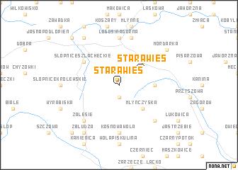 map of Stara Wieś
