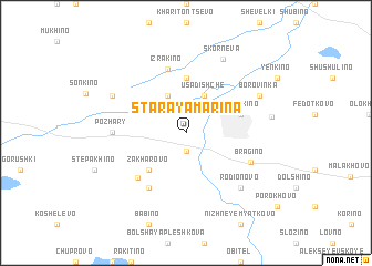 map of Staraya Mar\