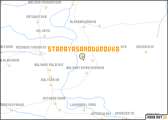 map of Staraya Samodurovka