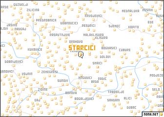 map of Starčići