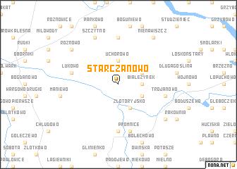 map of Starczanowo