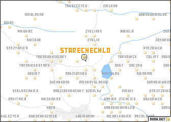 map of Stare Chechło
