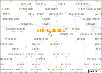 map of Staré Doubice