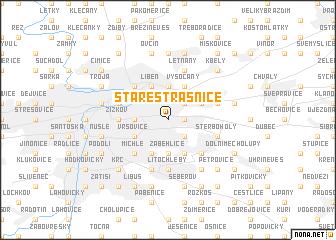 map of Staré Strašnice